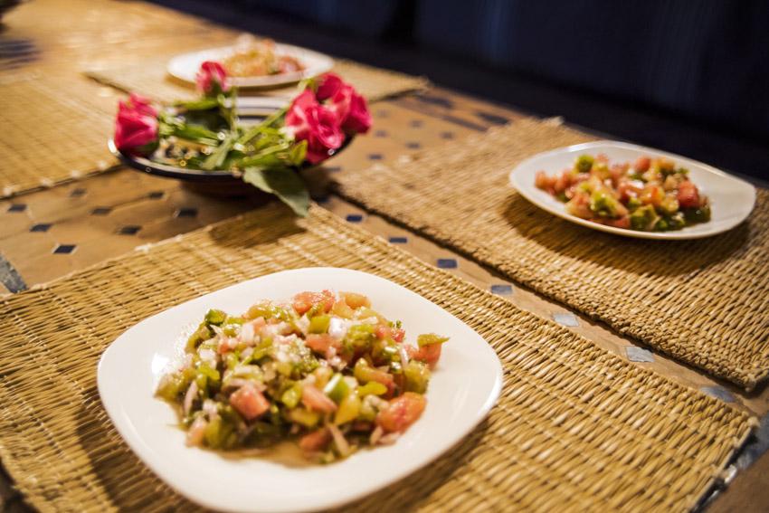 Traveling in Marocco in Africa / Essaouira: Cooking Tajine