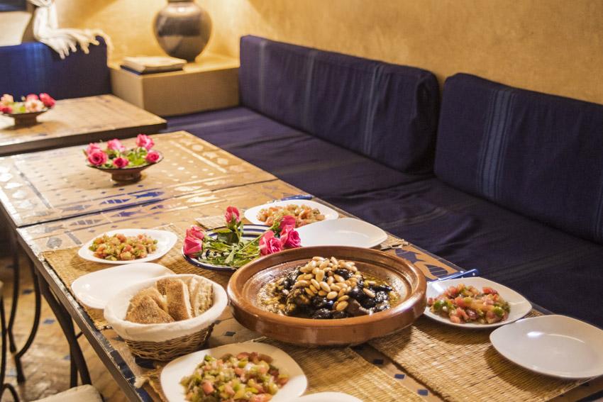Traveling in Marocco in Africa / Essaouira: Tajine