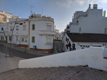 Armacao de Pera in Portugal (Algarve): the old town