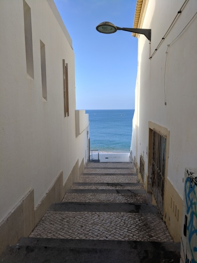 Armacao de Pera in Portugal (Algarve): a little path to the sea