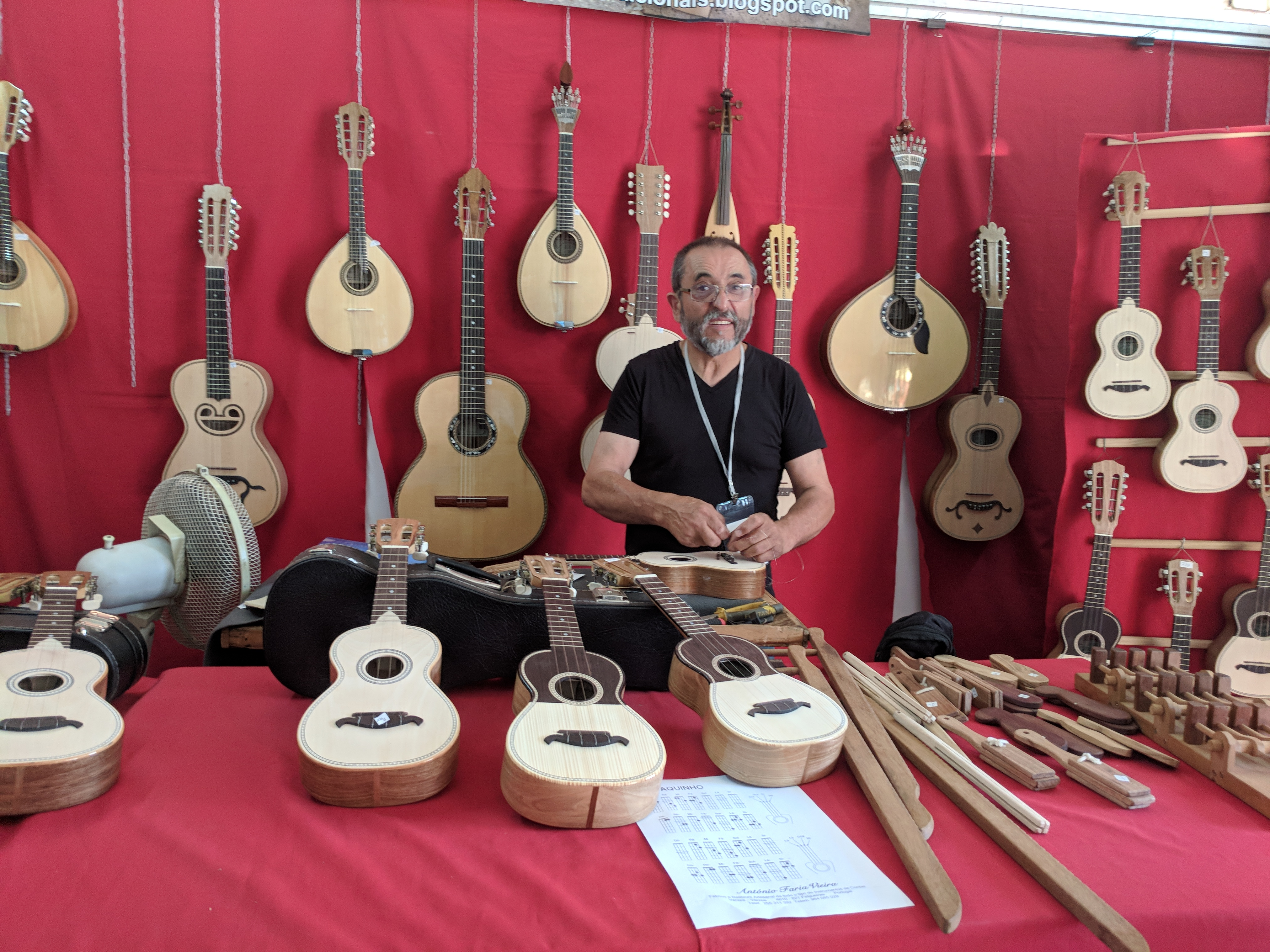 Portugal - Algarve / Fatacil (fair) in Lagoa: luthier