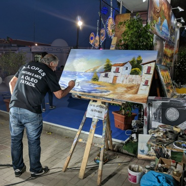 Portugal - Algarve / Fatacil (fair) in Lagoa: artist