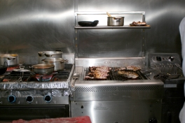 Gas stoves in the kitchen
