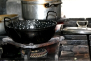 Pot on the gas stove