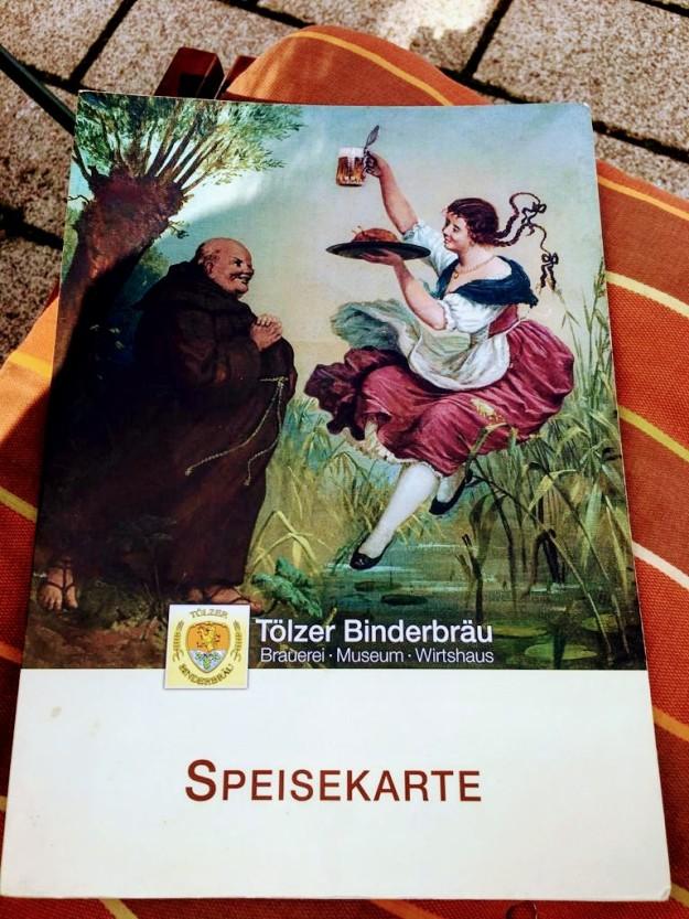 Restaurant Tölzer Binderbräu / Speisekarte