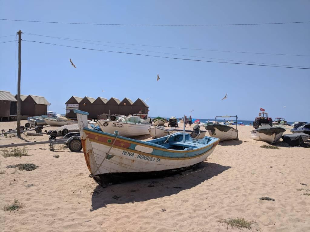 Fischerboot in Armacao de Pera